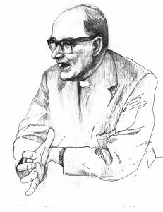 Illustration of theologian Bernard Lonergan