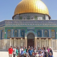 Fuller Seminary students and faculty on a trip in Israel in 2014.