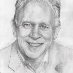 Pencil sketch of Fifth President Mark Labberton