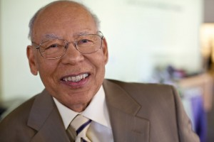 Fuller Seminary faculty member William E. Pannell smiles in a close up portrait
