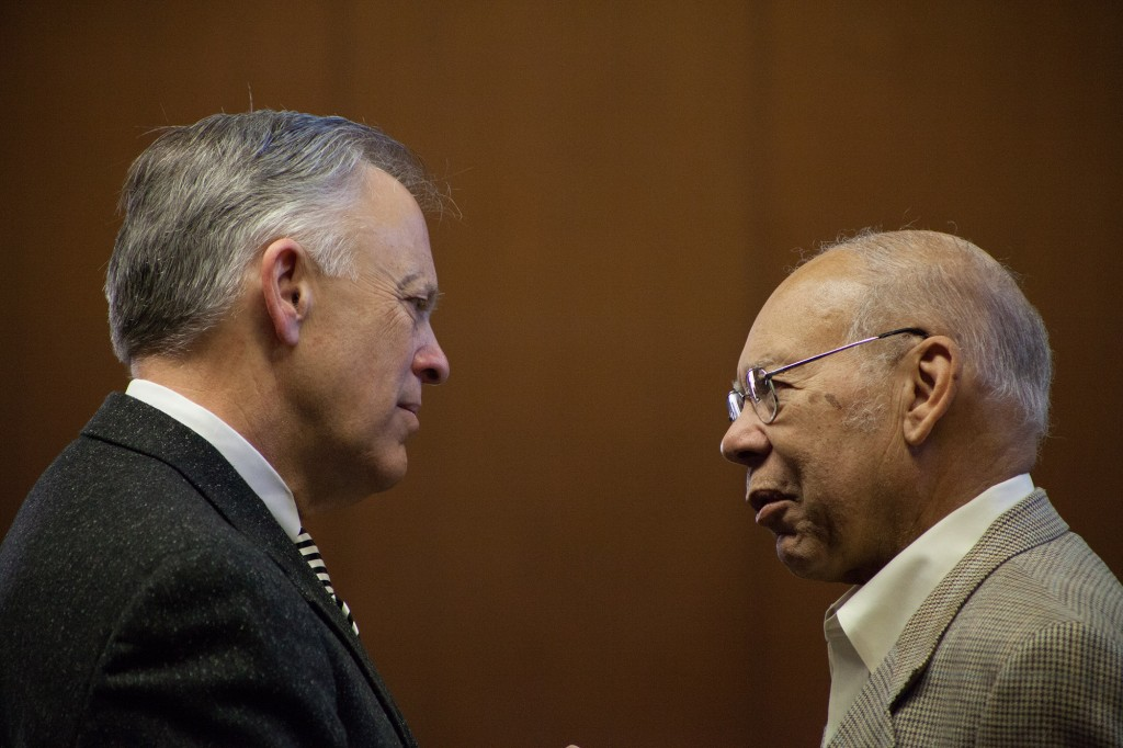 Fuller Seminary's president Mark Labberton in a deep discussion with Dr. William E. Pannell