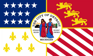 Flag of the city of Detroit