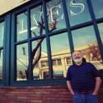 Fuller Seminary alum John Wipf in front of the former location of Archives Bookshop