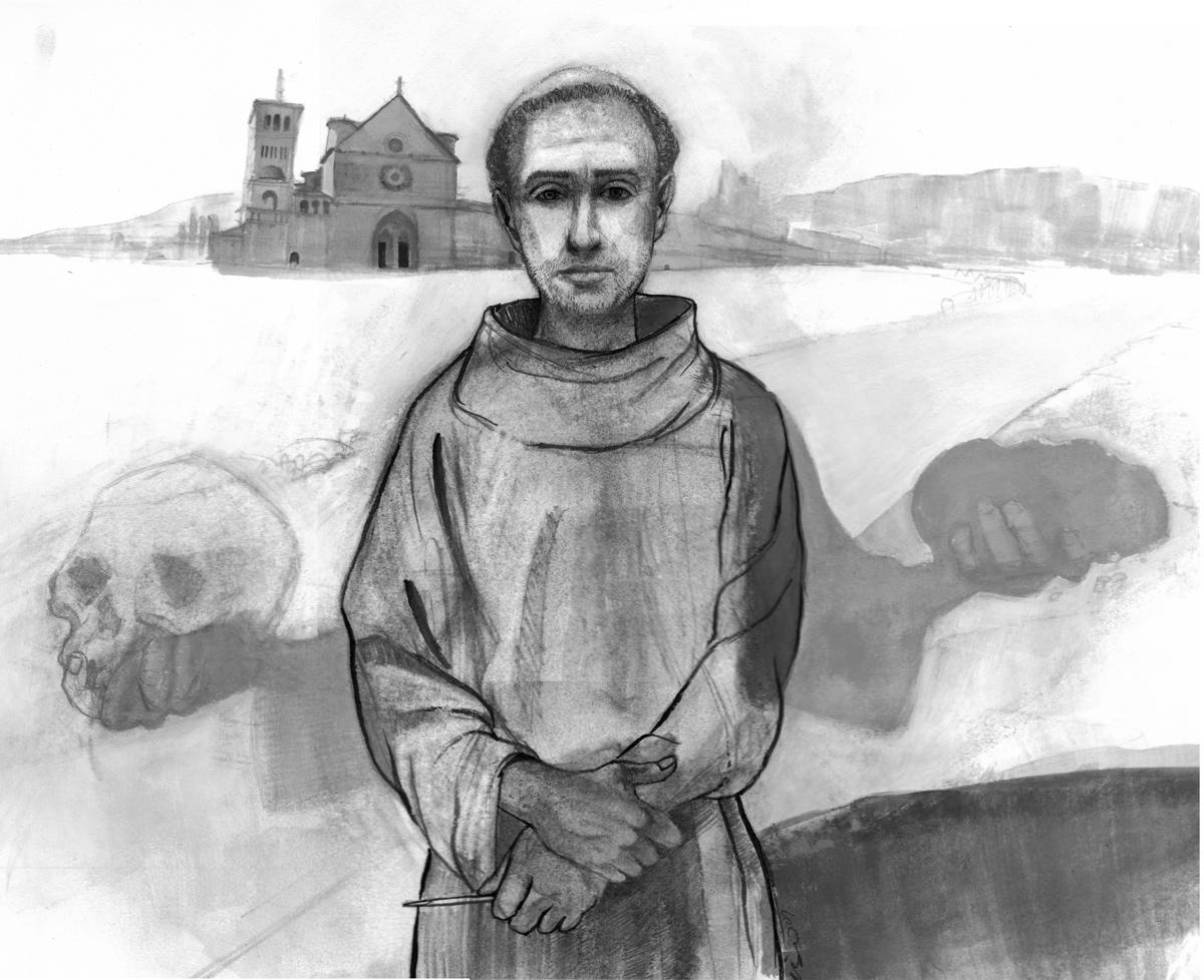 Saint Francis of Assisi-Illustration-by-D.Klitsie