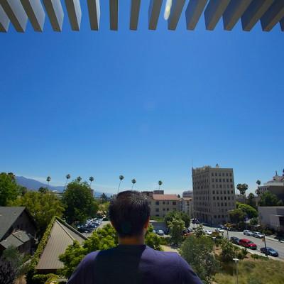 Fuller Seminary alum Justin Fung surveys the Pasadena campus
