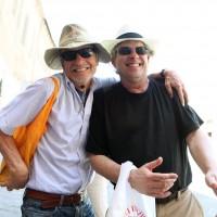 Fuller Seminary professor Bill Dyrness and Brehm Artist-in Residence Chris Slatoff