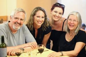 Fuller Seminary professor Richard Peace enjoys time with fellow travelmates