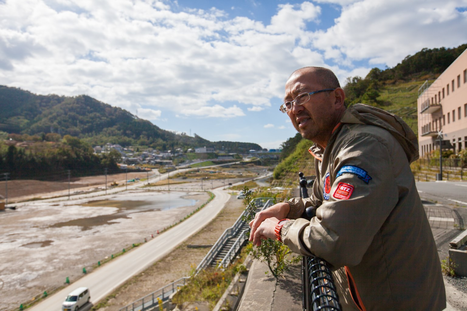 Fuller Seminary alum Eric Takamoto surveying the devestation in Japan