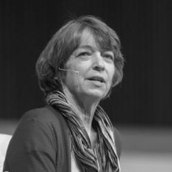 Fuller Seminary professor Marianne Meye Thompson speaking