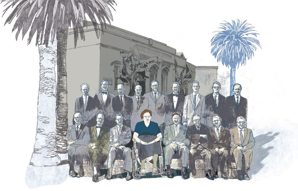 Illustration of Fuller Seminary's first female faculty member Rebecca Price