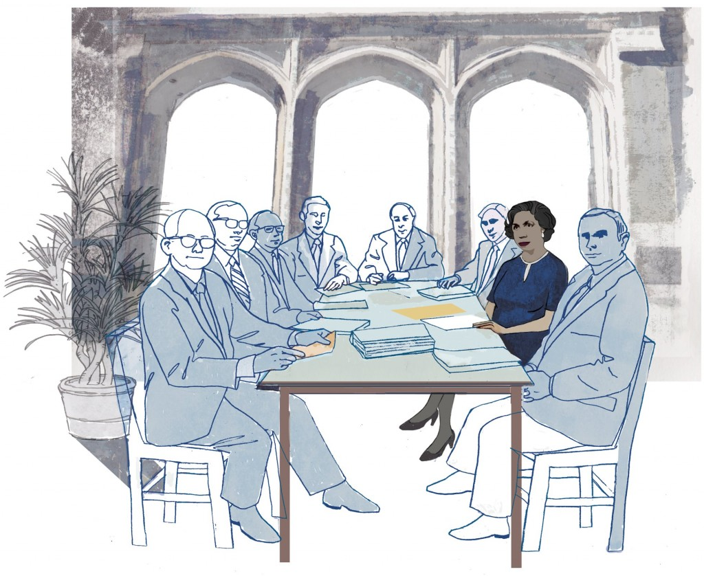 Illustration of Fuller Seminary's first female trustee Pearl McNeil