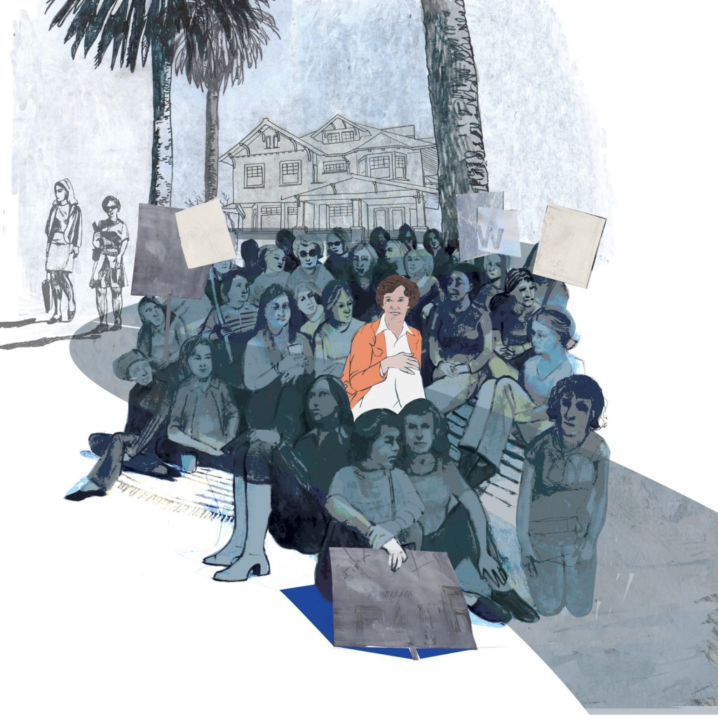 Illustration of Fuller Seminary's sit-in in the 1970s