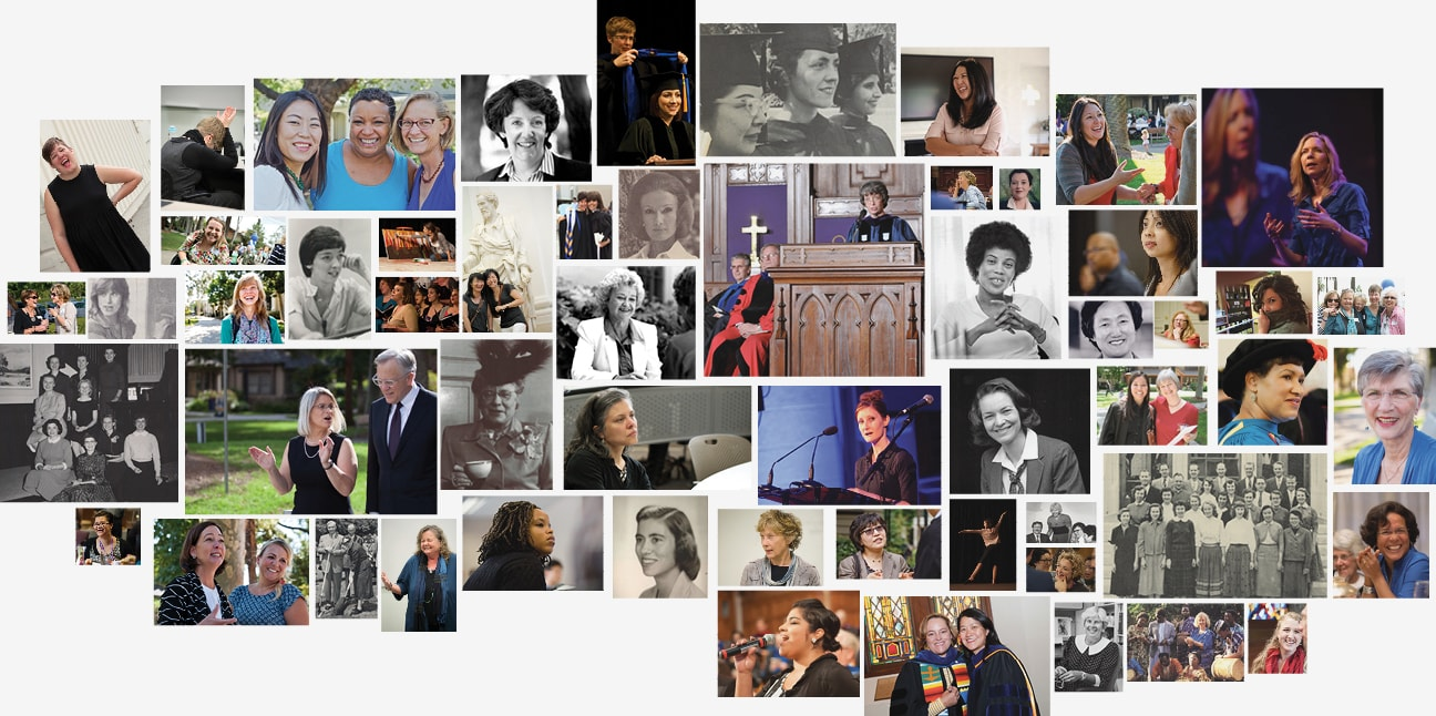 Collage of women at Fuller Seminary