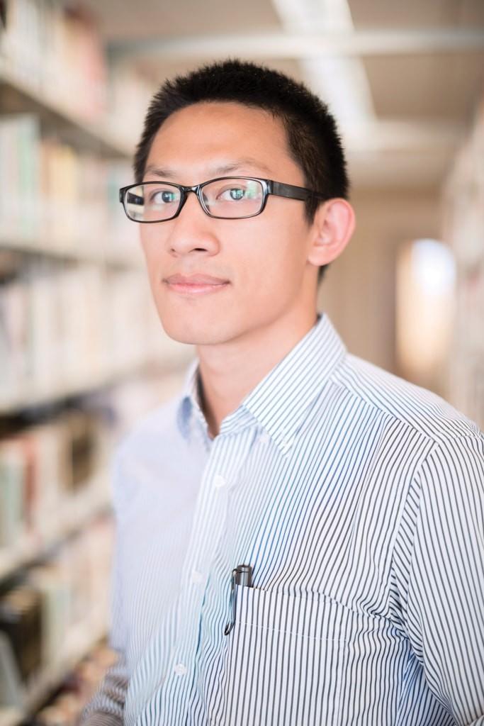 Portrait of Fuller Seminary student Gabriel Qi for FULLER magazine