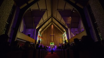 A concert in a church for SXSW