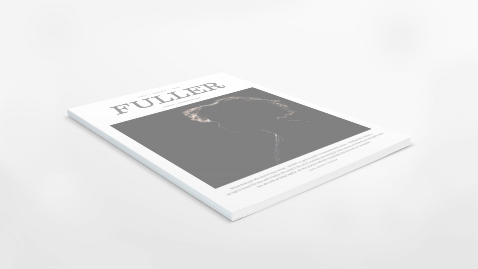 Angled photo of FULLER magazine Issue Four: Reconciling Race