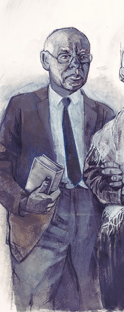 Illustration of Bill Pannell by Denise Louise Klitsie for FULLER magazine