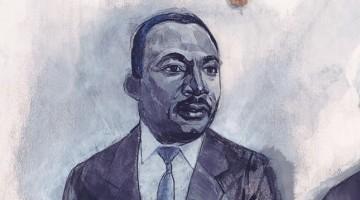 Illustration of Dr. Martin Luther King Jr. by Denise Louise Klitsie for FULLER magazine