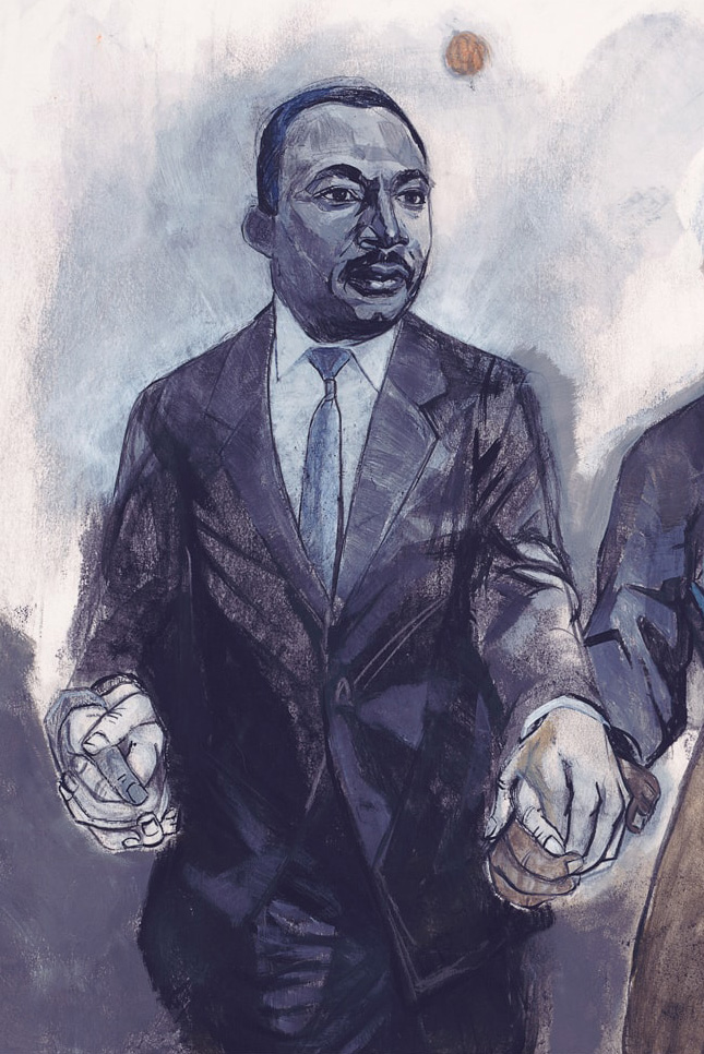 Illustration of Dr. Martin Luther King Jr. by Denise Louise Klitsie for FULLER magazine