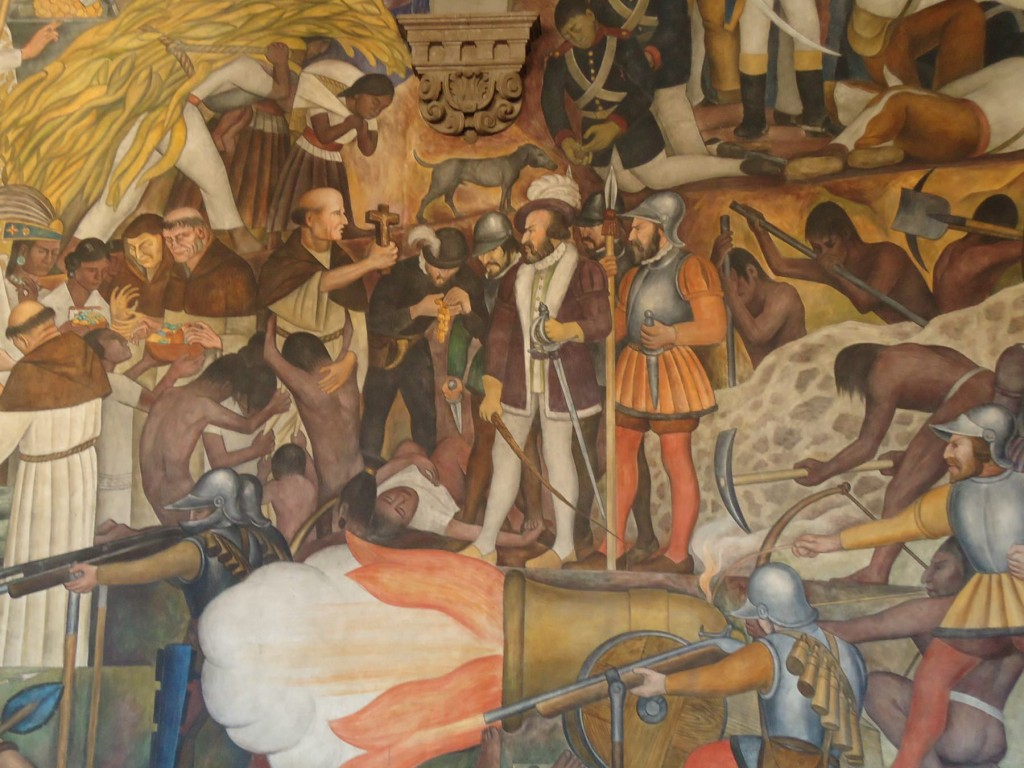 The significance of the cross in latino a perspective for Diego rivera la conquista mural
