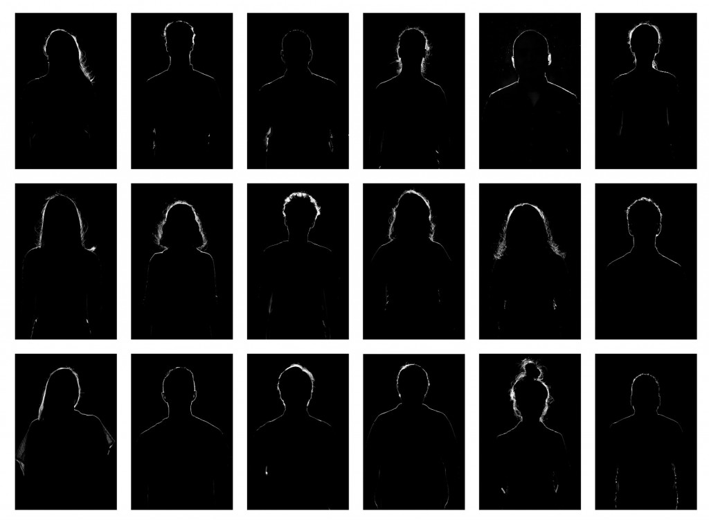 Grid of unidentified people for FULLER magazine