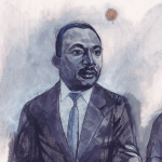 Illustration of Dr. Martin Luther King Jr. by Denise Klitsie FULLER