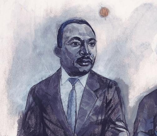 Illustration of Dr. Martin Luther King Jr. by Denise Klitsie FULLER