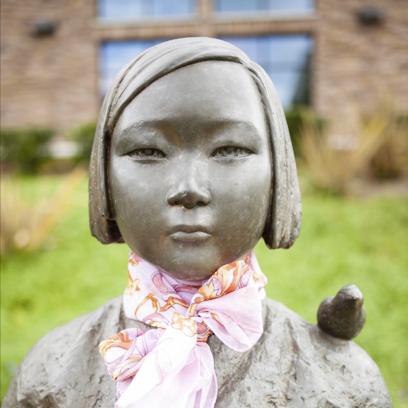 A memorial statue for the WWII comfort women in Glendale, California, featured in FULLER magazine