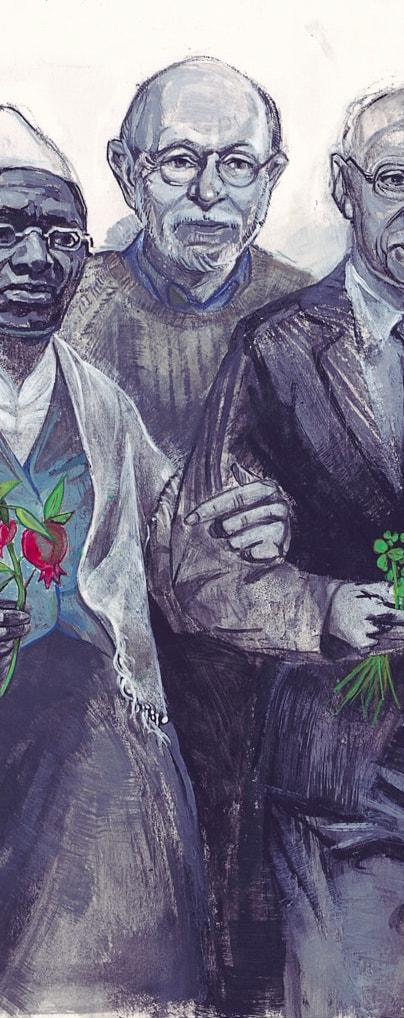 Illustration of Glen Stassen by Denise Louise Klitsie for FULLER magazine