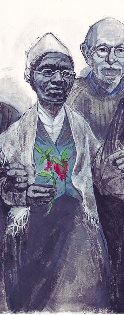 Illustration by Denise Louise Klitsie of Harriet Tubman for FULLER magazine