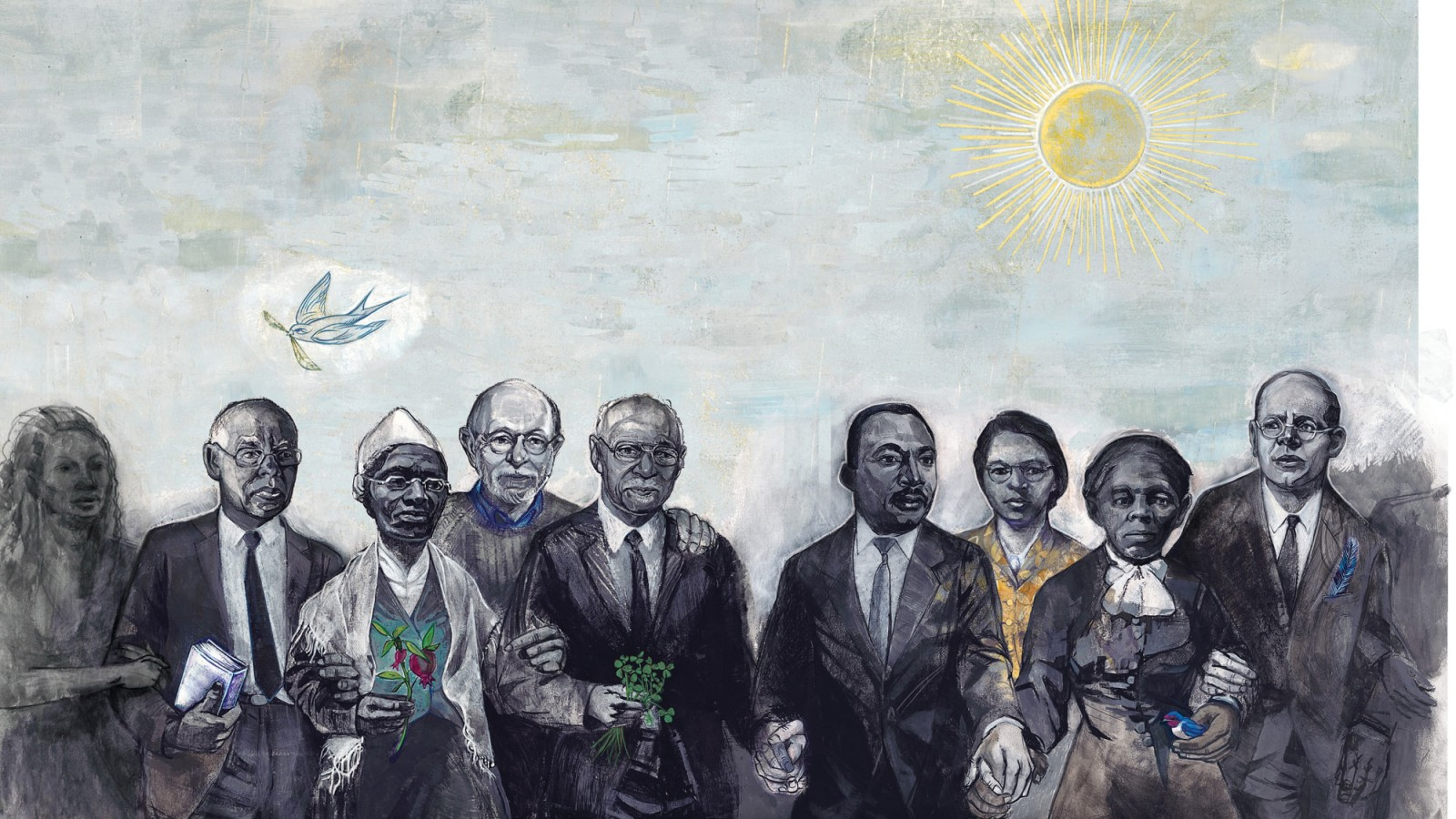 Illustration of marching advocates by Denise Louise Klitsie for FULLER magazine