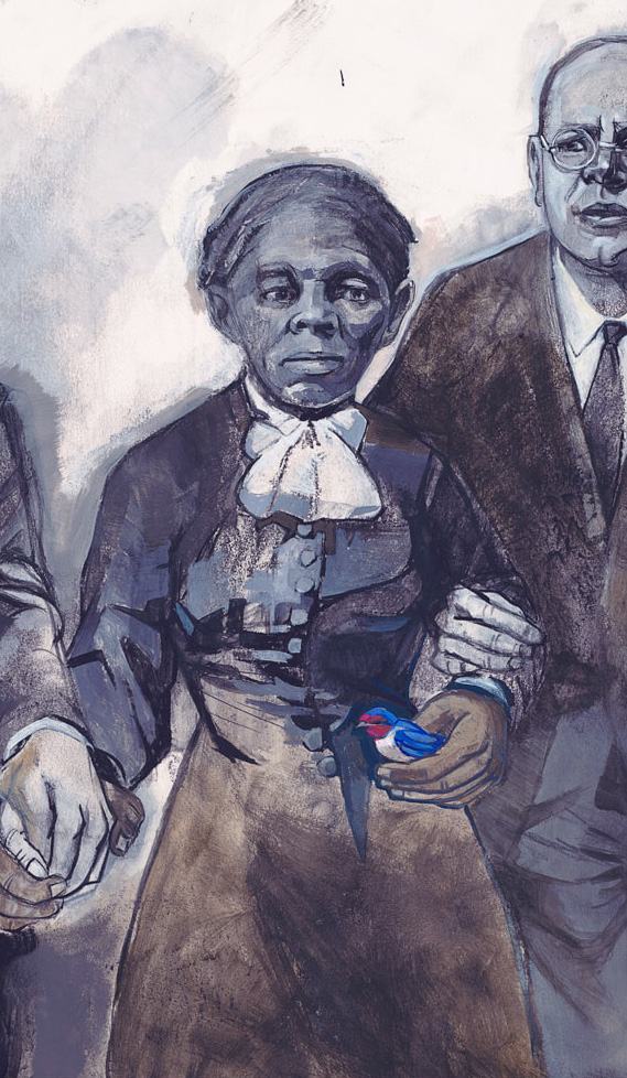 Illustration of Harriet Tubman by Denise Louise Klitsie for FULLER magazine