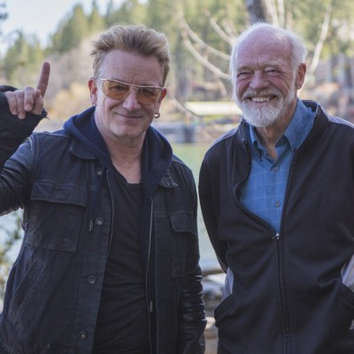 Bono and Eugene Peterson photo by Taylor Martin