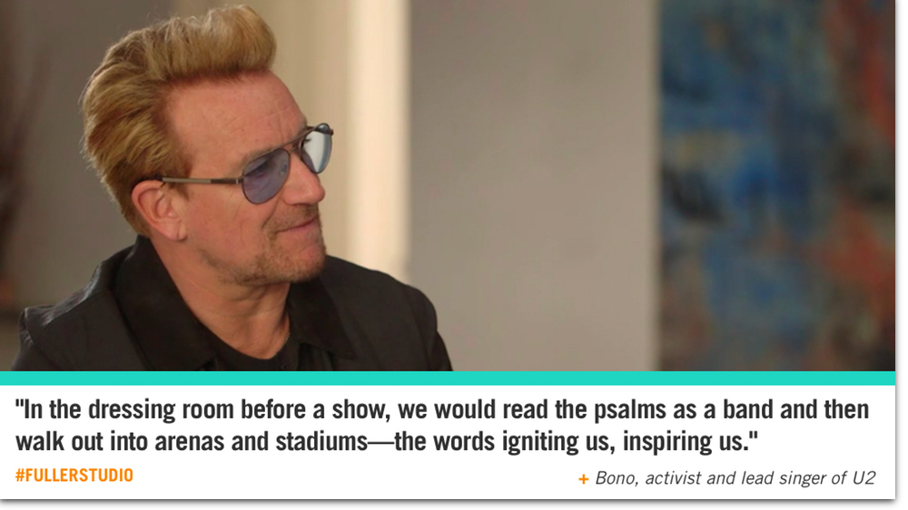 Bono reflects on the Psalms