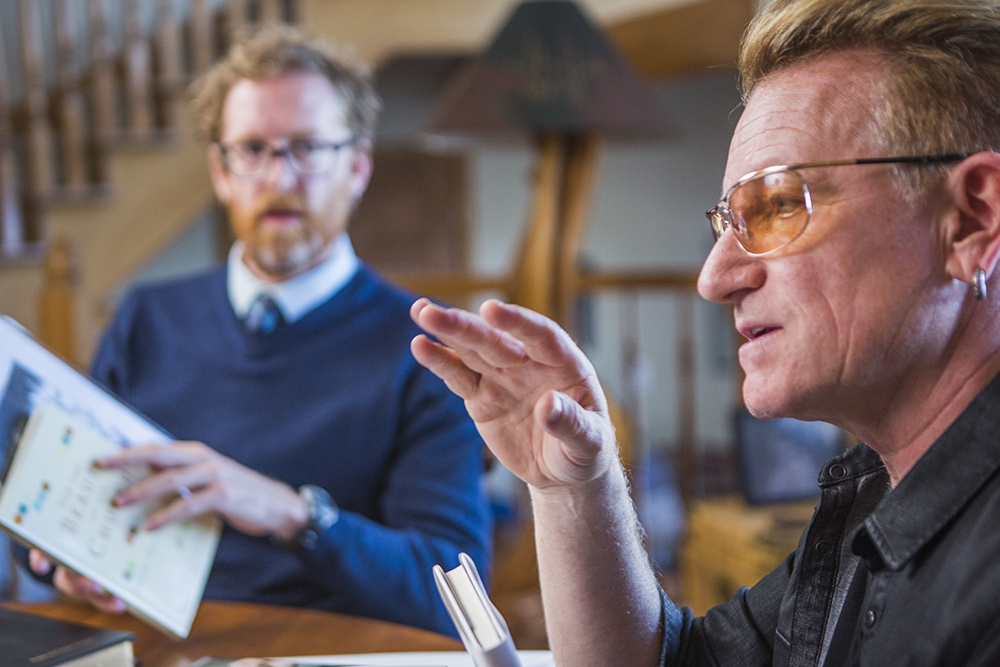Bono explains his music to Eugene Peterson and David Taylor by Taylor Martyn