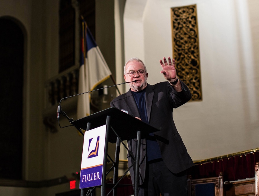Jim Wallis speaks on justice ay Fuller Seminary