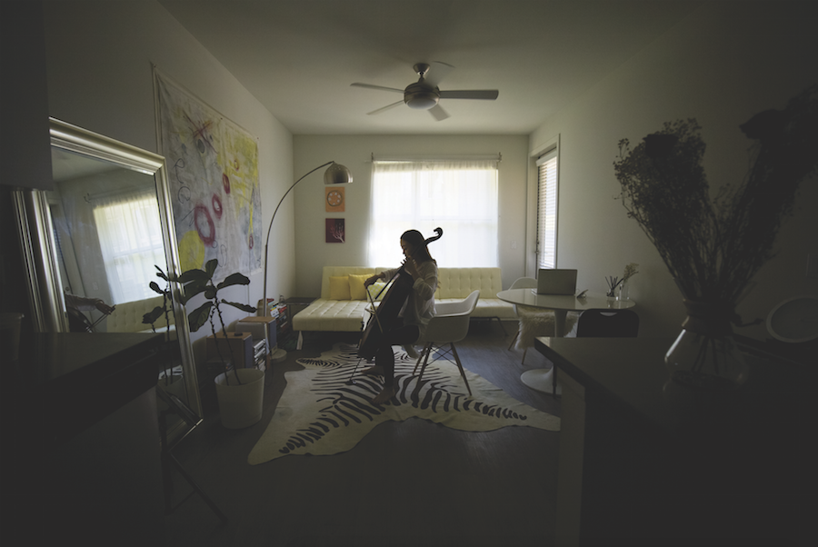 Yena Choi in her apartment