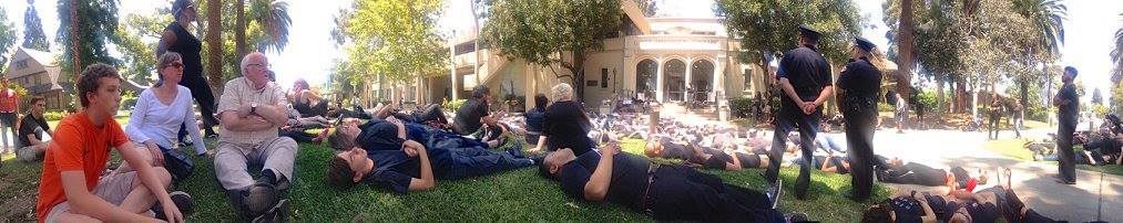 Die-in to raise awareness of police violence
