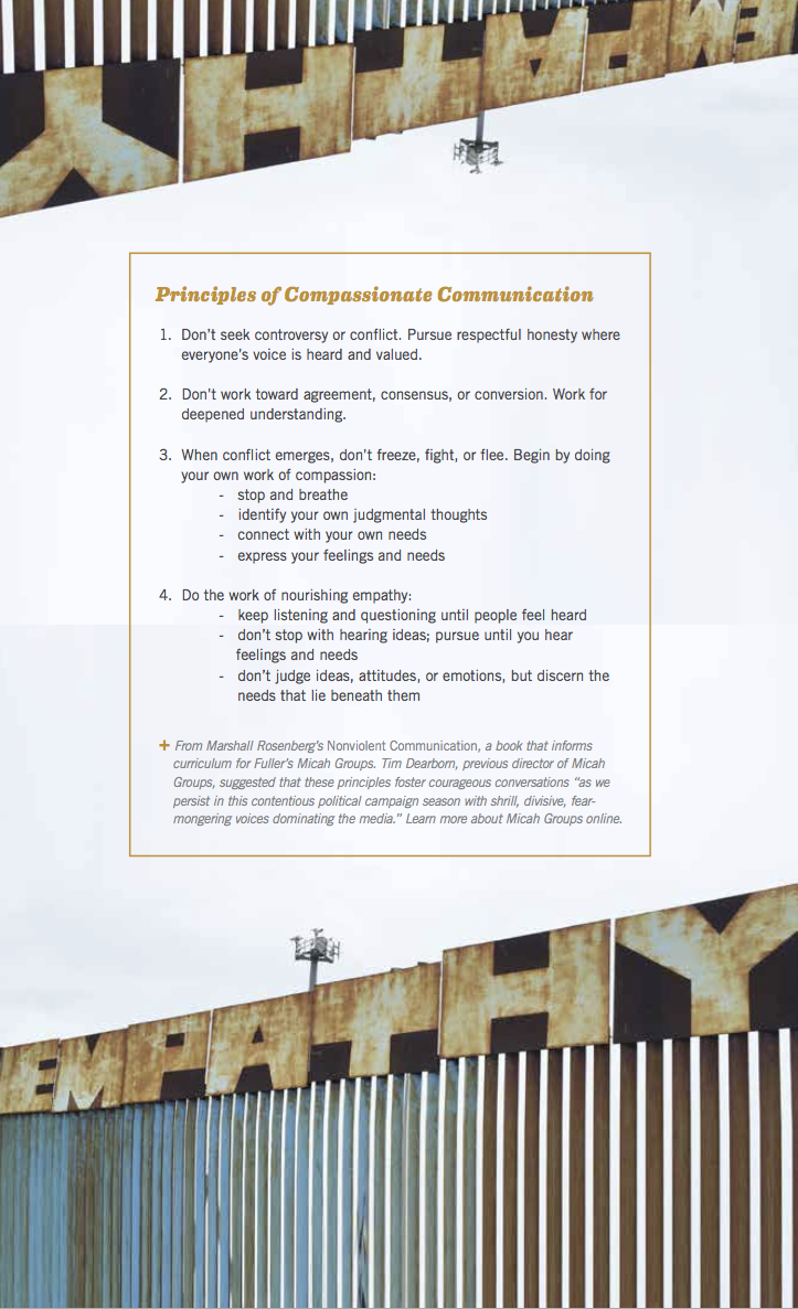 Principles of Compassionate Communication (with Empathy Wall)