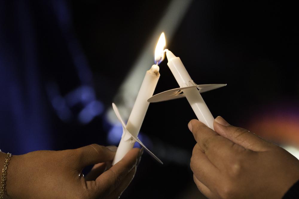 Candles at the Christmas Tree Lighting 2015