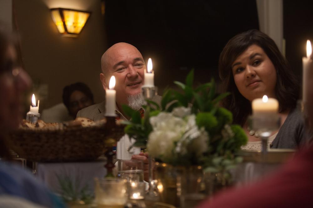 Johnny Ramirez Johnson and Jennifer Guerra at the Story Table