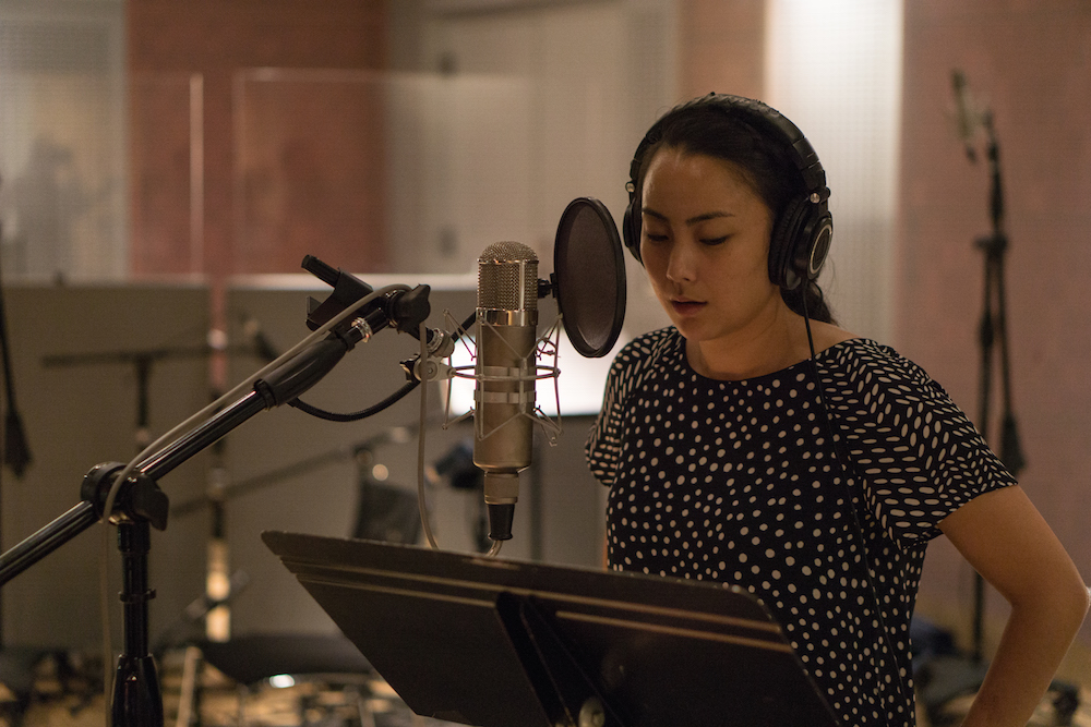 Julie Tai singing for the REVERE | RESTORE music project