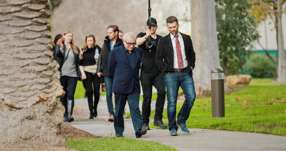 Kutter and Martin Scorsese walking
