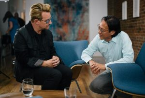 Bono & Mako in New York City (photo: John Harrison)