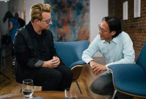 Bono & Mako in New York City (photo: John Harrison)