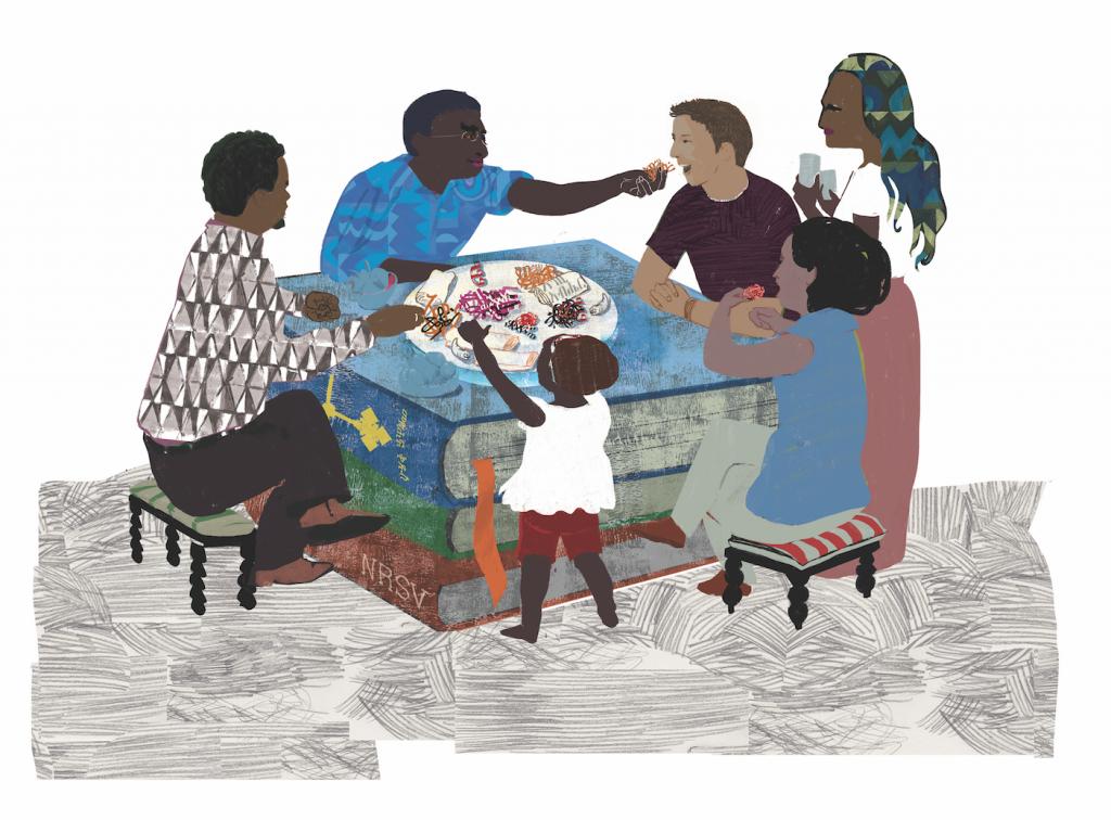 Illustration by Denise Klitsie Reading Scripture Globally