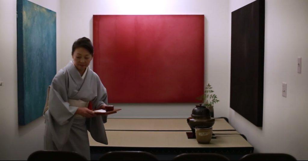 Keiko at the tea ceremony
