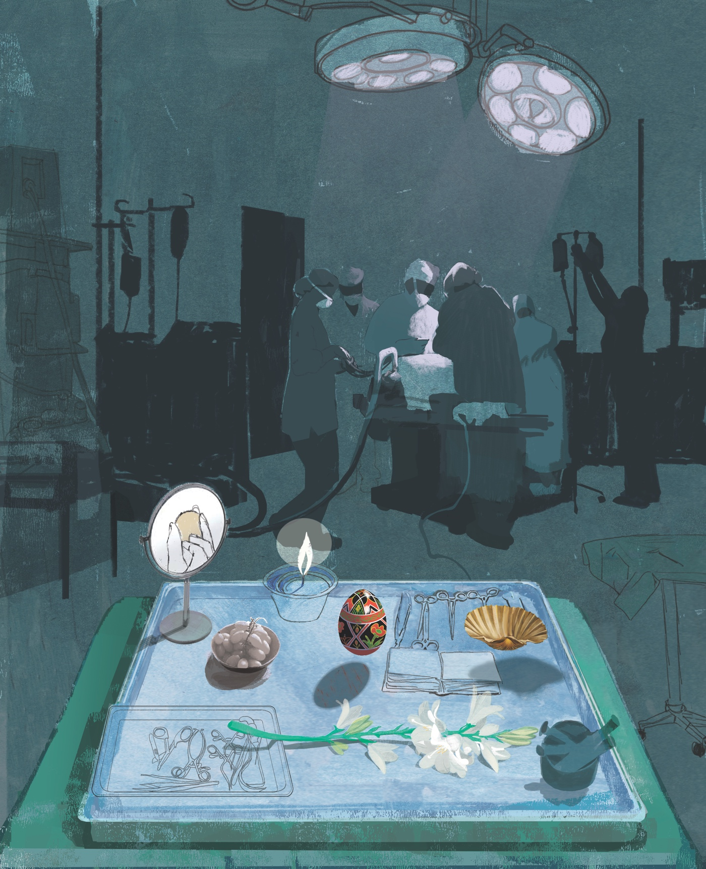 Blue Operating Table by Denise Klitsie