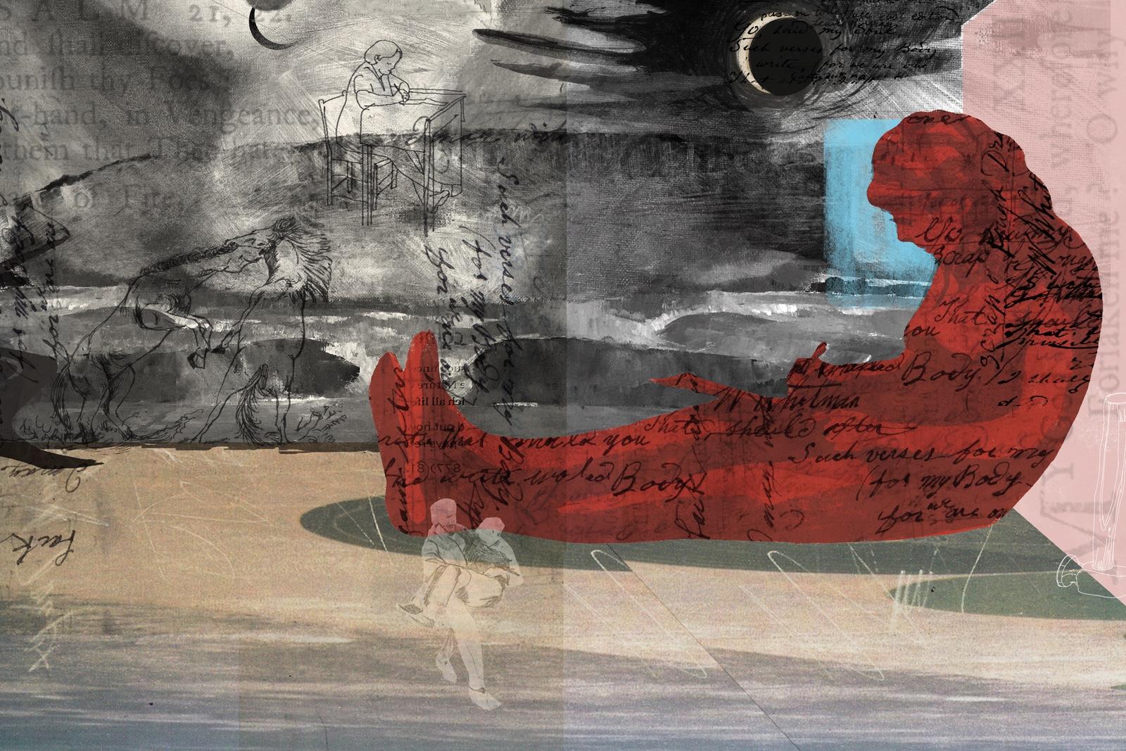 Denise Klitsie illustration of poetry