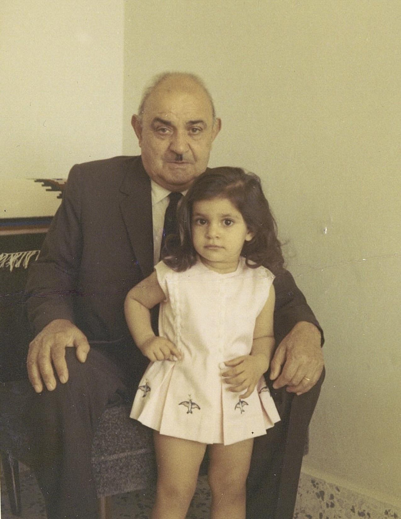 Grandfather Natan with Doris